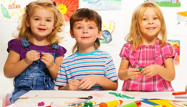 engage children at child care at church