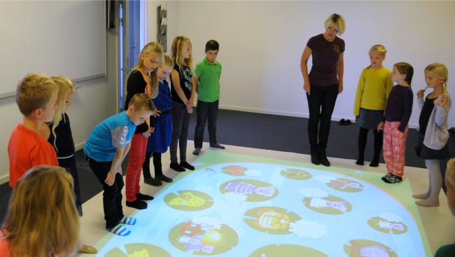 floor interactive games