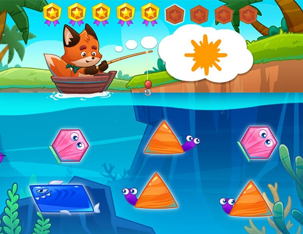 go fishing a fun way to learn colors and shapes at early learning centers