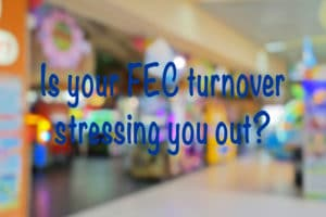 Background with words Is your FEC turnover stressing you out